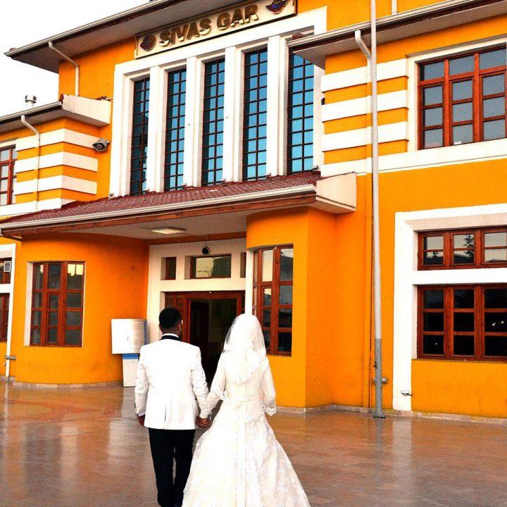 Vintage tarzı ile Sivas'ta düğün fotoğrafları
